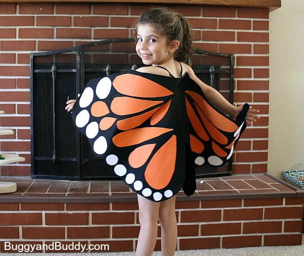 Felt Monarch Butterfly Wings (Tutorial) - Buggy and Buddy