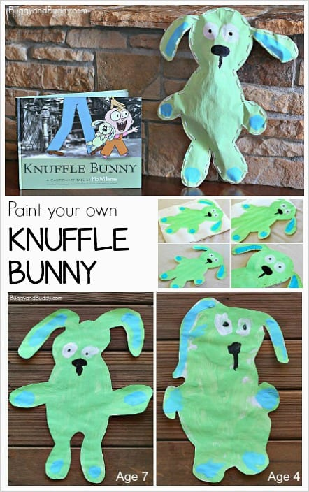 Art Project for Kids: Paint your own knuffle bunny! ~ BuggyandBuddy.com