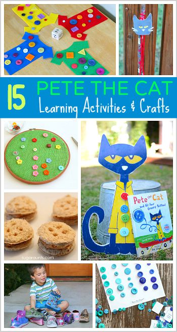 15 pete the cat learning activities and crafts for kids for Cat crafts for toddlers