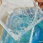 math and science activity for kids using bubbles