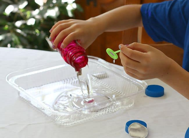 bubble science activity for kids