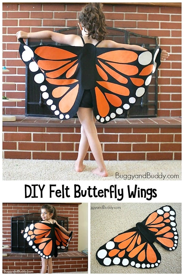 DIY Felt Butterfly Wing tutorial