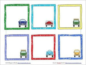 Free Printable Car-Themed Lunch Box Notes