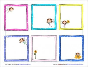 Free Printable Fairy Lunch Box Notes