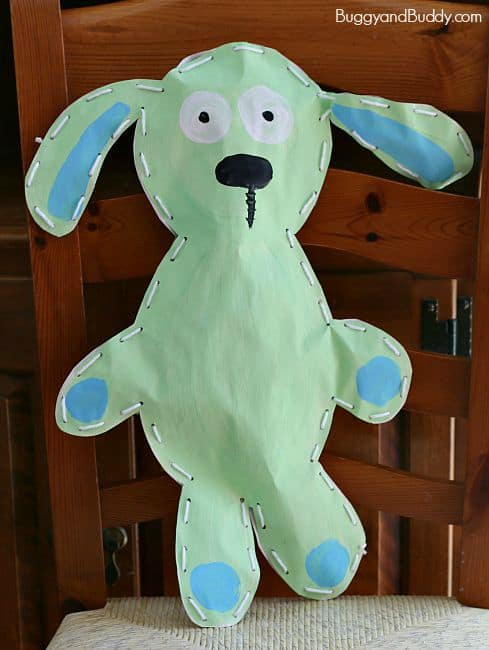Bunny Art Project for Kids Inspired by Knuffle Bunny