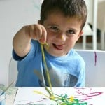 Process Art for Preschoolers: Painting with Yarn