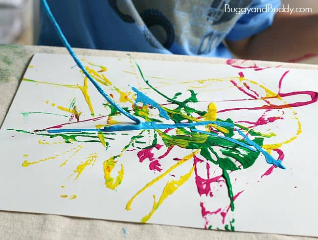 painting craft ideas for preschoolers process for preschoolers painting with yarn buggy 6997
