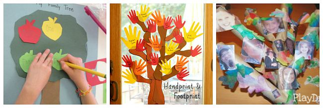 9 Family Tree Activities For Kids on Fall Art Projects For Kids Textured Pumpkins Using Crayon