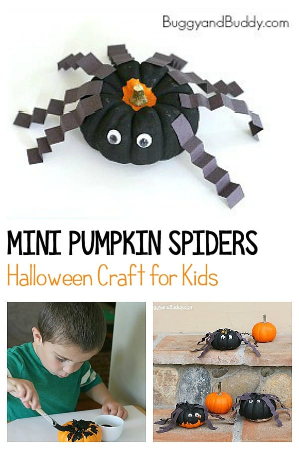 Mini Pumpkin Spider Craft for Halloween: perfect for preschool and kindergarten