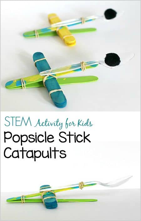 Science for Kids: Explore Popsicle Stick Catapults (from The Curious Kid's Science Book) ~ BuggyandBuddy.com