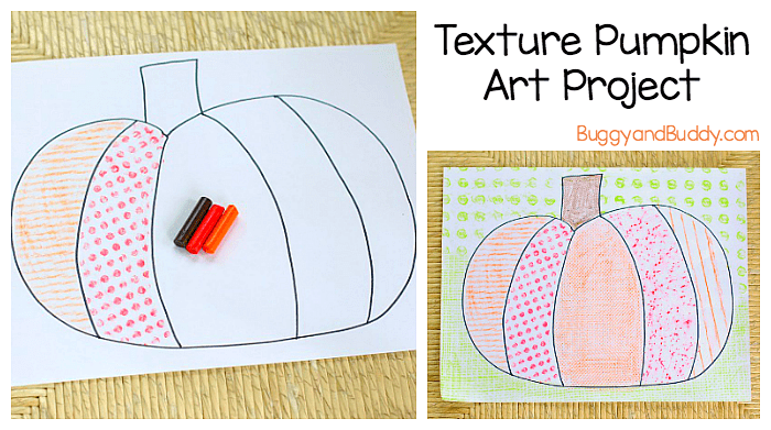 Texture Pumpkin Art Project for Kids