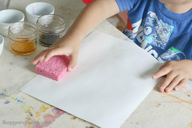 wet your art paper with a sponge