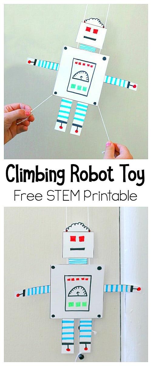 STEM for Kids: Climbing Robot Toy Printable