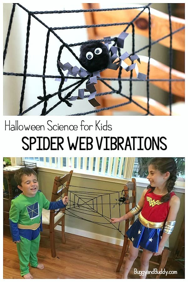 Halloween Science for Kids: Learn about spider web vibrations