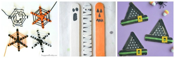 popsicle stick halloween crafts for kids