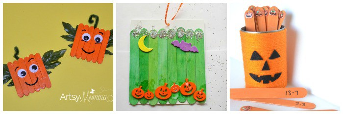 12 Halloween Crafts Using Popsicle Sticks