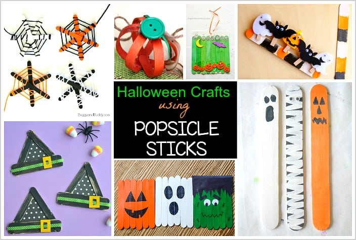 12 Halloween Crafts For Kids Using Popsicle Sticks Buggy And Buddy