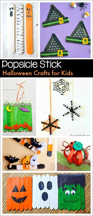 Halloween Arts and Crafts for Kids Using Popsicle Sticks