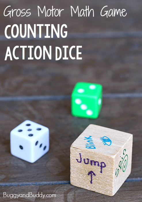 Gross Motor Math Game for Kids: Counting Action Dice ~ BuggyandBuddy.com