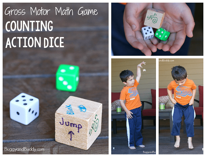 Gross Motor Math Game: Counting Action Dice