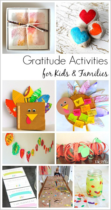 Over 20 Gratitude Activities to Do with the Kids for Thanksgiving (including Thankfulness Crafts, Printables, and Writing Projects) !