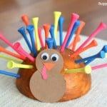 Fine Motor Turkey Craft for Thanksgiving