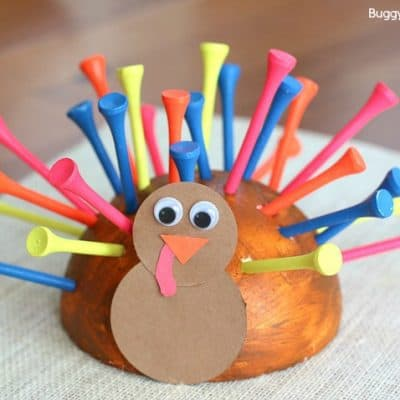 Fine Motor Turkey Craft for Thanksgiving