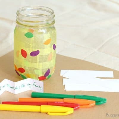 Thanksgiving Crafts and Activities for Kids: Thankful Jar
