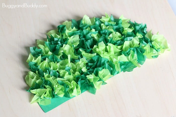 Christmas Tree Craft Using Tissue Paper Buggy And Buddy