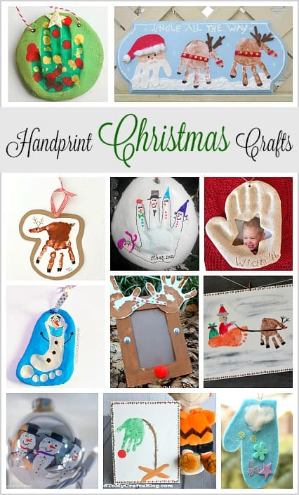 Over 20 Christmas Crafts for Kids Using Handprints- Make great keepsakes and holiday gifts!