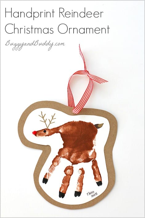 Handprint Reindeer Christmas Ornament Craft for Kids- Such a special ...