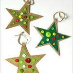 Button Star Christmas Ornament Craft for Kids Inspired by Corduroy