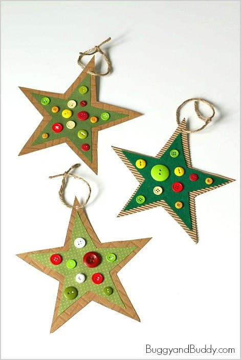 Button star christmas ornament craft for kids inspired by for Christmas crafts for pre schoolers