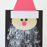 Santa Craft for Kids with Printed Beards