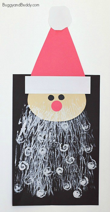 christmas arts and crafts for toddlers santa craft for with printed beards buggy and buddy 7495
