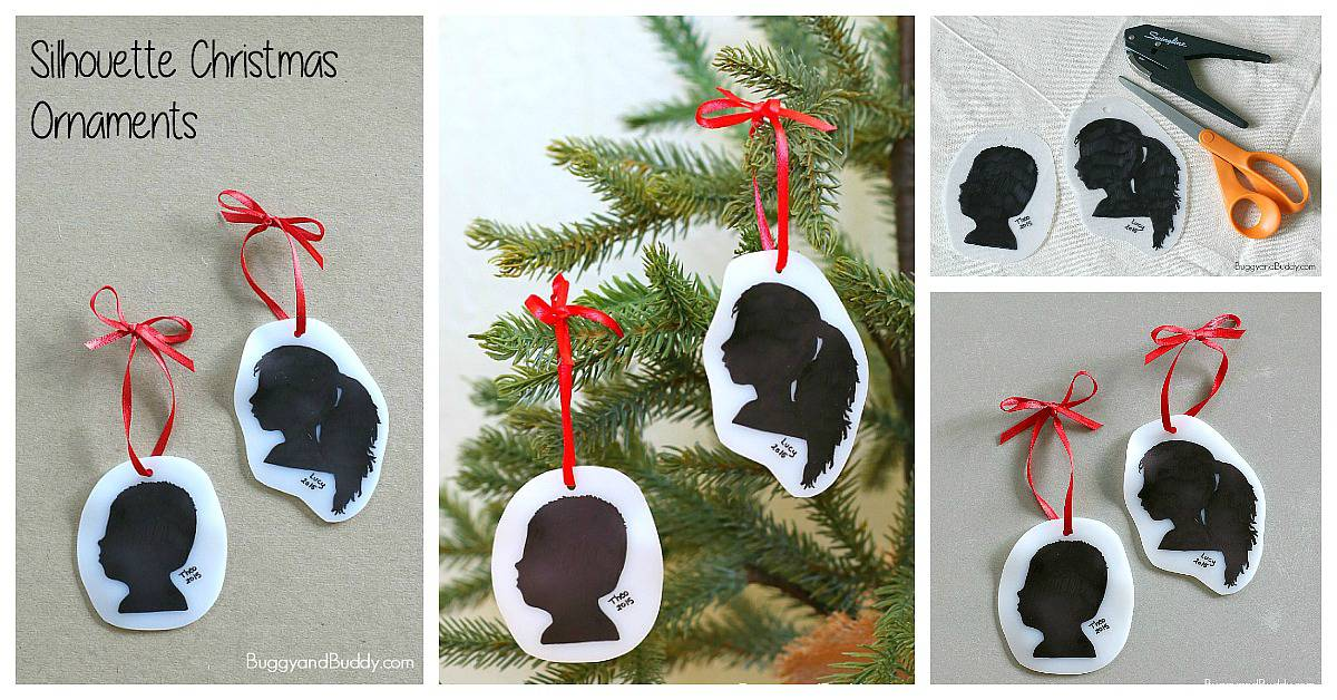 DIY Silhouette Christmas Ornament Craft for Kids