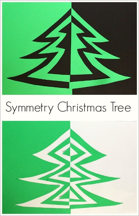 ... christmas art christmas symmetry christmas ideas art project for kids