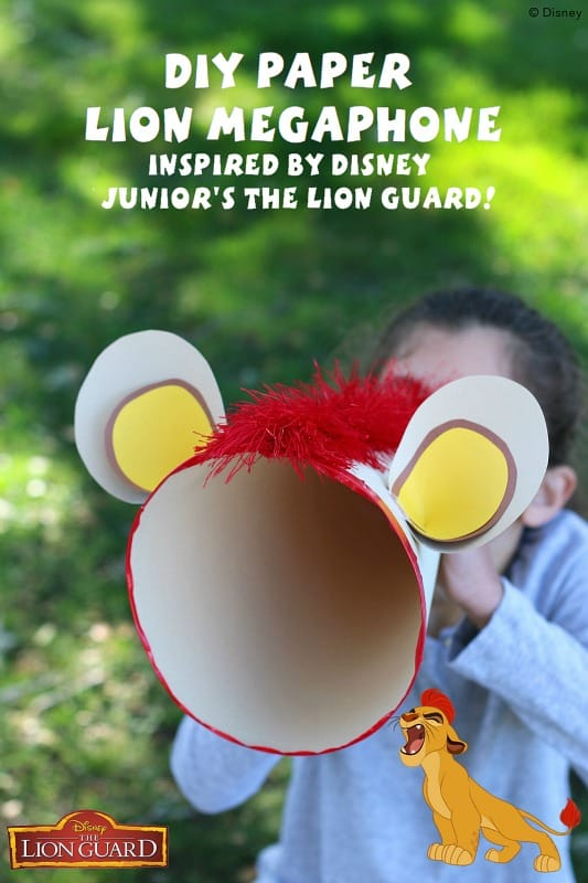 DIY Paper Megaphone Inspired by Disney Junior's The Lion Guard