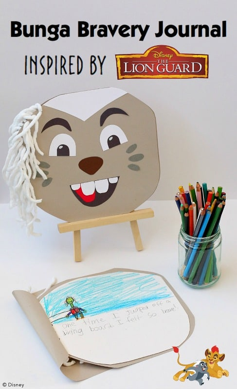 Make a Bravery Journal- Inspired by Bunga from Disney Junior's The Lion Guard