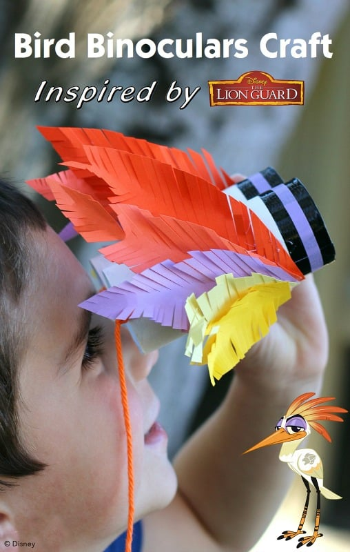 DIY Bird Binoculars Inspired by Disney Junior's The Lion Guard