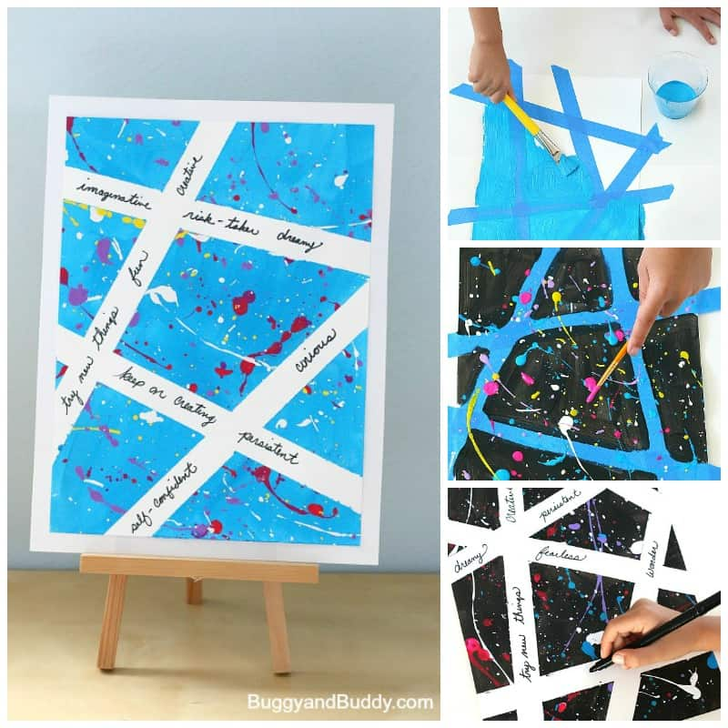 Inspirational Splatter Paint Art Project for Kids
