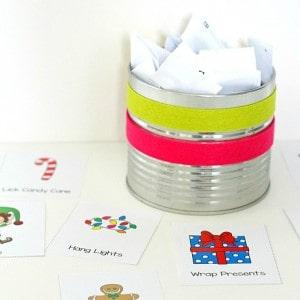 Winter and Christmas Charades Free Printable Game for Kids