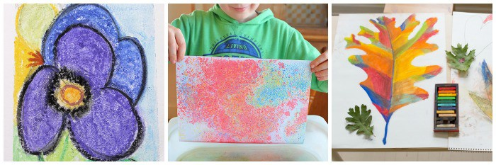 cool art projects for kids using chalk pastels