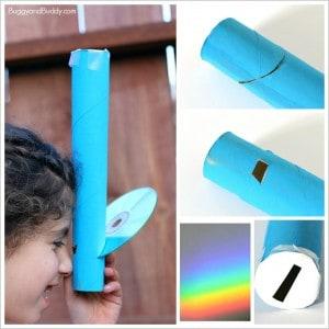 Rainbow Science for Kids: Homemade Spectroscope