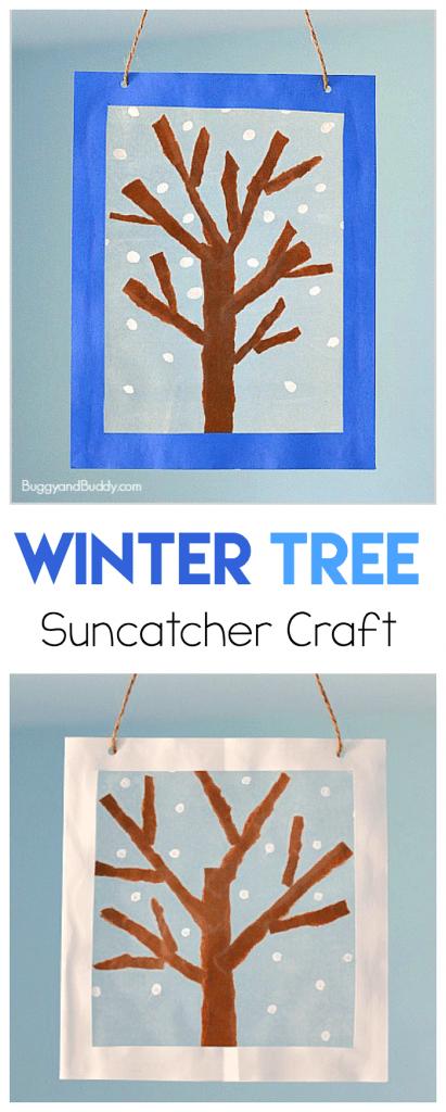 winter tree sun catcher