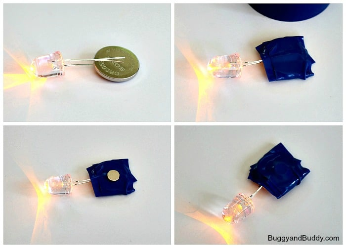science for kids: how to make LED throwies