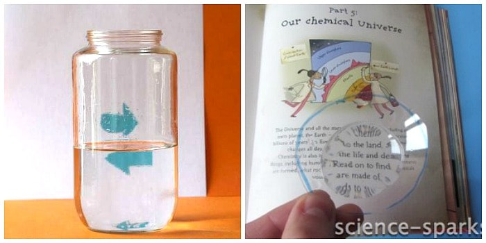 light refraction with water science for kids