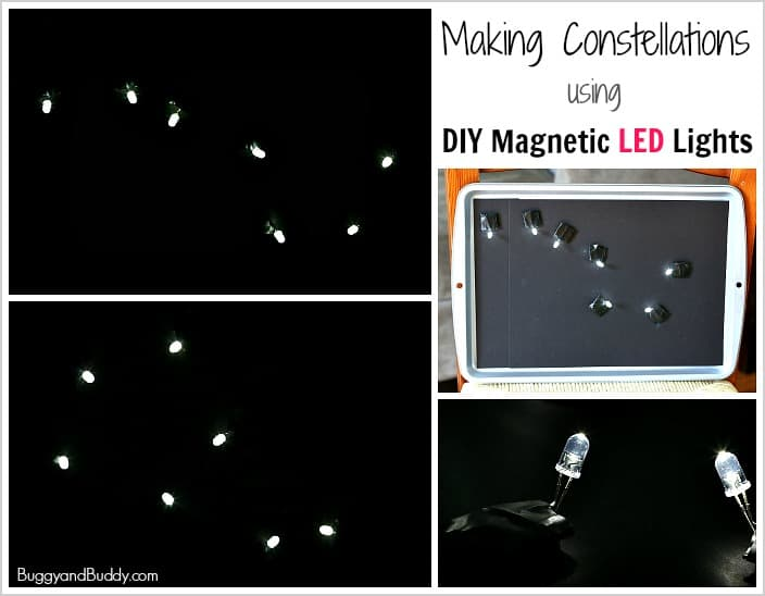Astronomy for Kids: Make Constellations Using DIY Magnetic LED Lights- a fun science activity for kids!