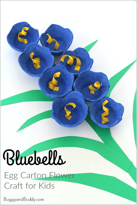 Bluebells Egg Carton Flower Craft For Kids Buggy And Buddy