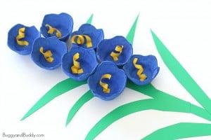 Bluebells Egg Carton Flower Craft for Kids